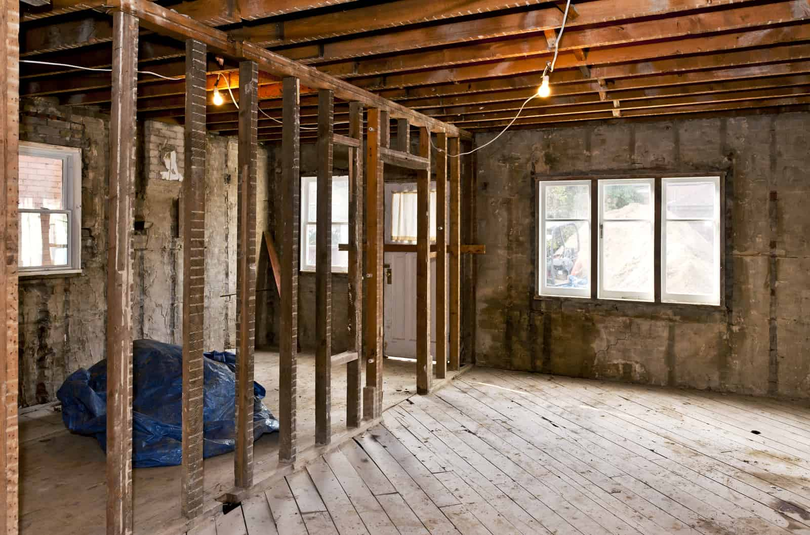 gutting a house for renovation